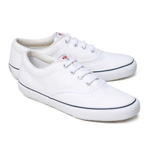 006ef69fe419e Brooks Brothers Superga Classic Deck Sneakers. M 5b1045448af1c573bce04b3d
